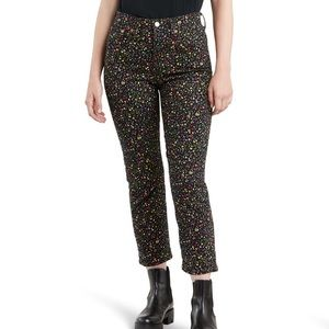 Levi's - Floral Wedgie High Waisted Straight Leg